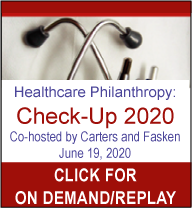 Click for the 2020 Healthcare Philanthropy On demand / replay